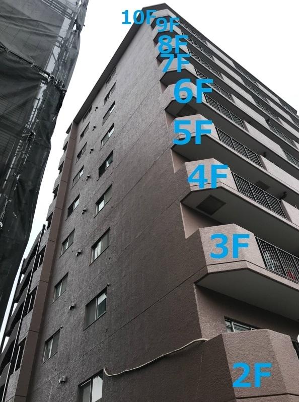 10階建てマンション足場無し