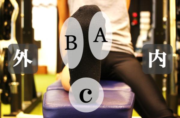 足の裏の荷重部位