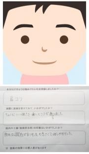 ユウスケさんの似顔絵イラストとアンケートです