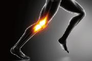 走っている人の膝のモノクロイラストです