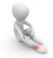 足首を痛めた画像です