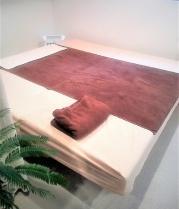 施術ベッドの写真です