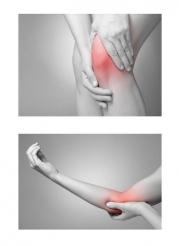 膝のケガと肘のケガのイラストです